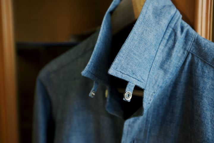ปกเสื้อ Kamakura แบบ tab collar